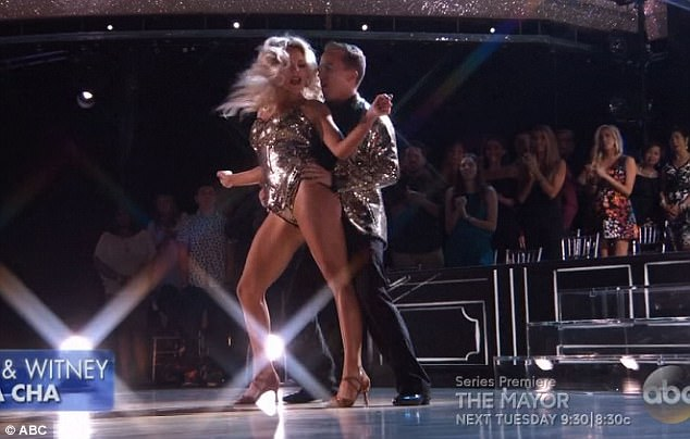 TV star: Frankie Muniz performed last and did a cha cha with Witney Carson
