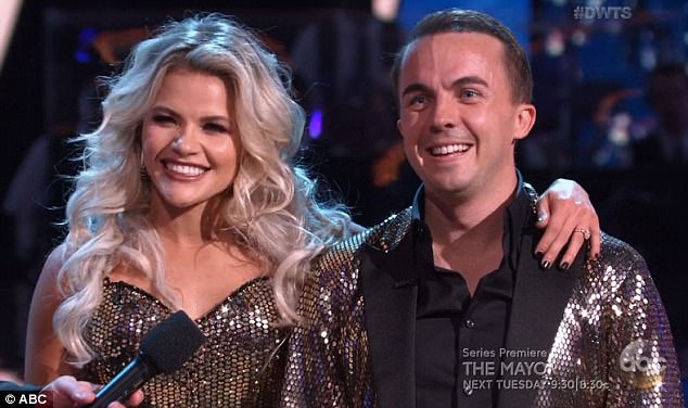 High score: Witney and Frankie received the highest score of the season so far with 25 points