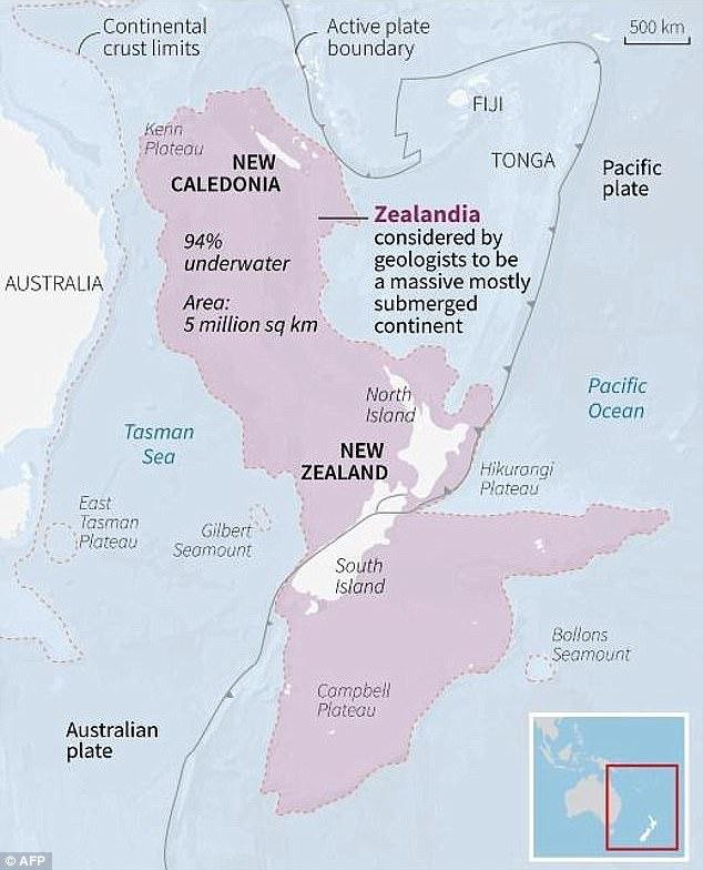 Covering five million square kilometres (1.9 million square miles), Zealandia includes Lord Howe Island off the eastern coast of Australia, New Caledonia and New Zealand