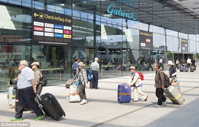 Problems have been reported in Charles de Gaulle Paris, London Gatwick (pictured, file photo) and New York