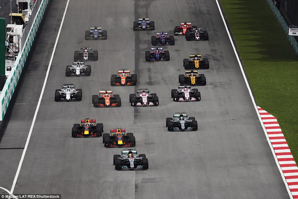 Hamilton had burst out of the traps, but his Red Bull rival Verstappen was instantly on his tail and pressured from the off