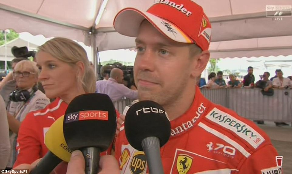 Vettel was far from impressed and told media the collision was 'completely unnecessary'