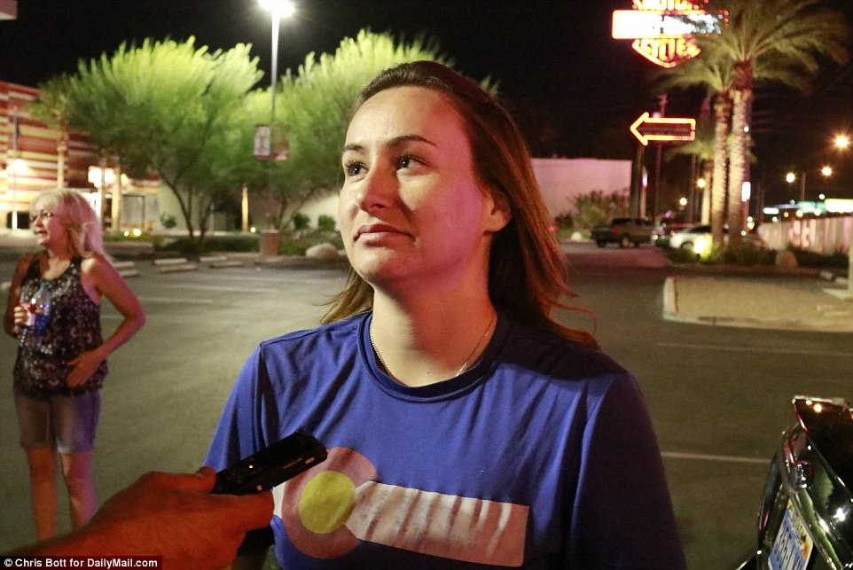 Witness Breanna Hendricks, who is in Vegas celebrating her 21st birthday, told DailyMail.com that a woman had told the crowd 'You're all going to f***ing die today' 45 minutes before the shooting. It's not known if the two are connected