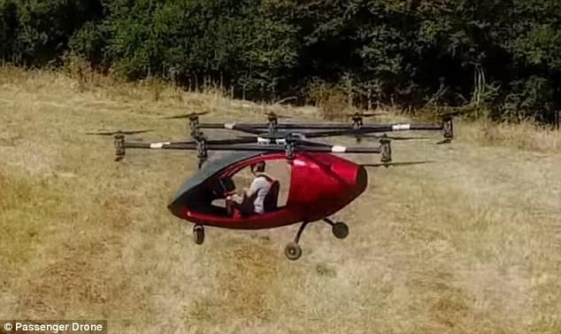 Passenger Drone took to the skies with a pilot aboard to test out the aerial craft's capabilities back in August, but the footage has just been released to mark its official launch