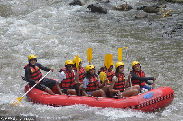 The family embarked on a meaningful trip to Indonesia where Barack spent time as a child, they also went white water rafting in Bali during the trip