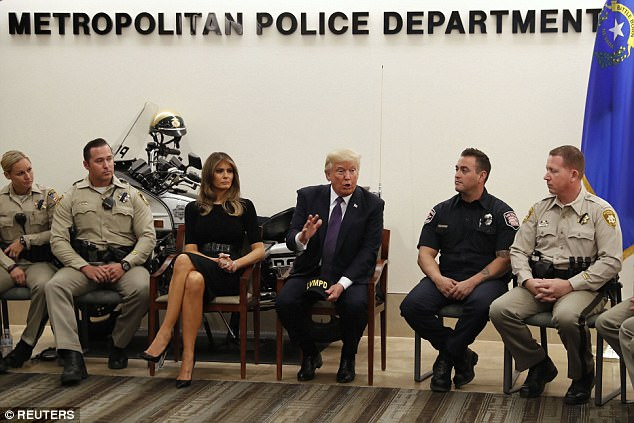'I've always known you guys are good but you really proved it,' the president told a group of first responders singled out for their heroism
