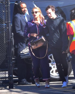 Fivesome: Beyonce and Jay Z stepped out in public with their four-month-old twins Rumi and Sir, and their five-year-old big sister Blue Ivy