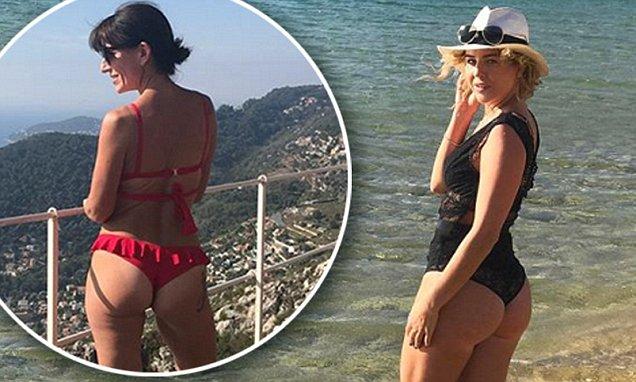 Lydia Bright inspired by Davina McCall in thong bikini