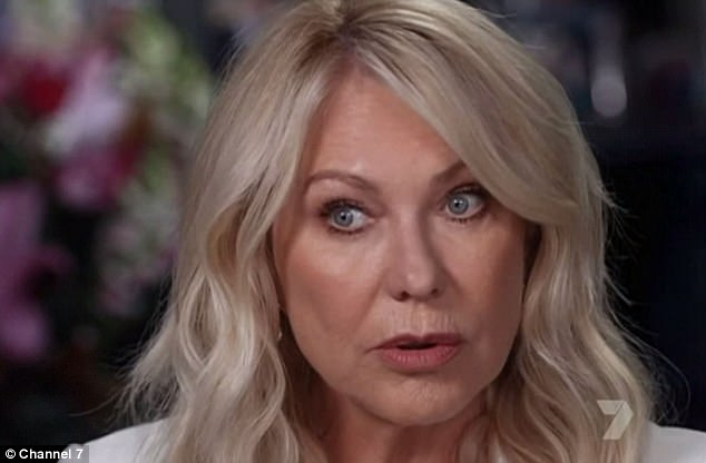 Ordeal: Kerri-Anne admitted the abuse got so bad she once pointed a gun at Jimmy and was prepared to kill him. She met Jimmy in New York in the late '70s. Pictured, recalling the story to Seven's Sunday Night in 2017