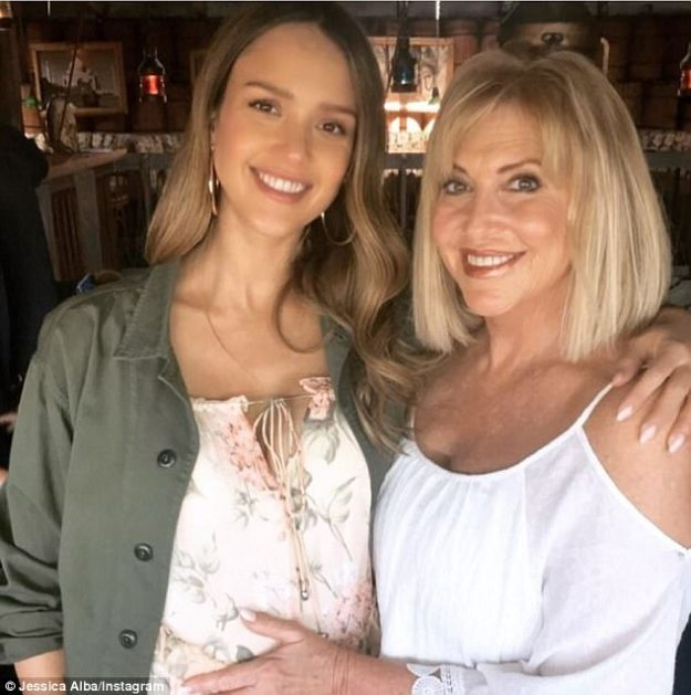 'My beautiful mom': On Sunday, Jessica Alba, 36, celebrated mom Cathy's birthday with a celebratory dinner at Warehouse in Marina del Rey