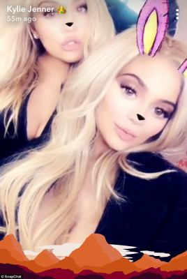 'Twins for a day!' Reportedly expecting moms and sisters Khloe Kardashian and Kylie Jenner looked nearly identical on social media Monday while both rocking glamorous golden locks