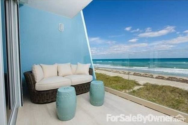 The condo is the first of the two Nordegren owns in the small complex with all units facing the beach