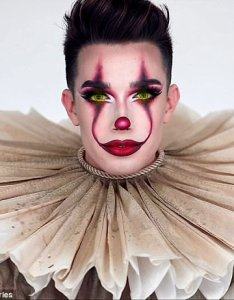 Slammed make up guru james charles pictured has come under fire for also youtuber pennywise tutorial daily rh dailymail