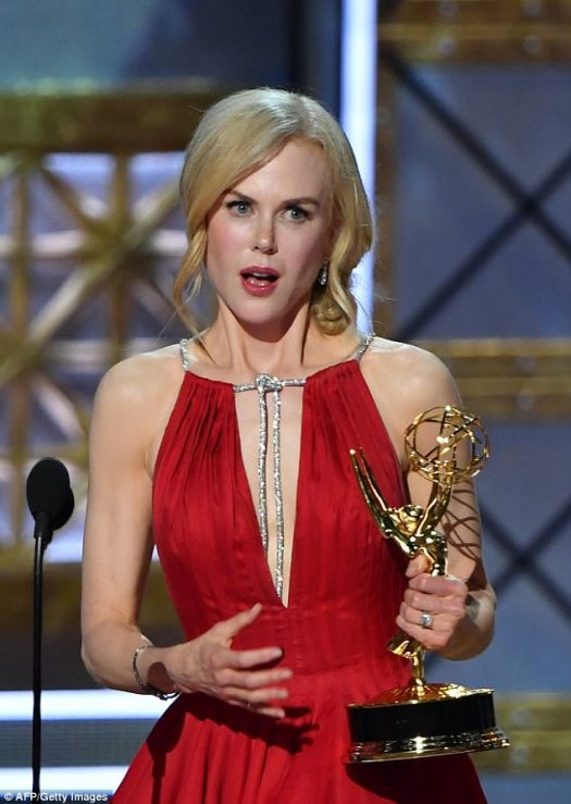 Speaking out: Nicole, who played a woman abused by her husband in HBO's Big Little Lies, recently used her recent Emmy Awards acceptance speech to draw attention to the issue of domestic violence
