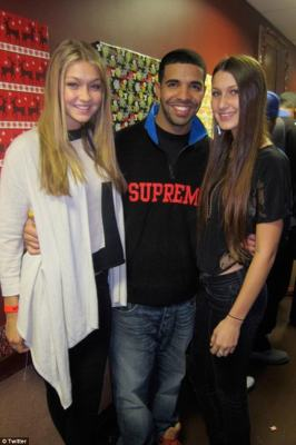 Forever friends: Drake and Bella have known each other for years even before her modeling career became a stellar success; (pictured with Gigi Hadid in 2014)
