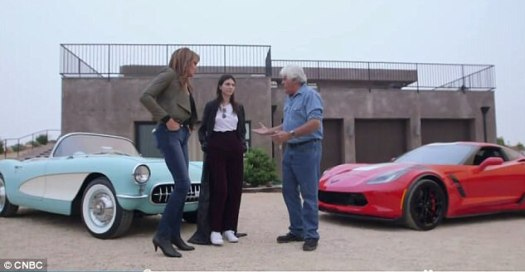Classics moment: The duo were on Jay's Garage along with the vintage Corvette