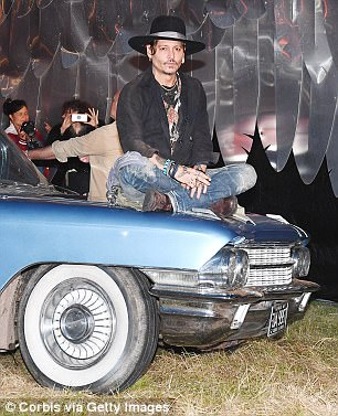 In the forward Depp said he he met Conlon in 1990, the year after he was released from prison, and says that the book is 'a story of a man I loved.' Depp is pictured in June at the 2017 Glastonbury Festival