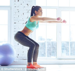 The squat is a compound, full body exercise that trains primarily the muscles of the thighs, hips and buttocks