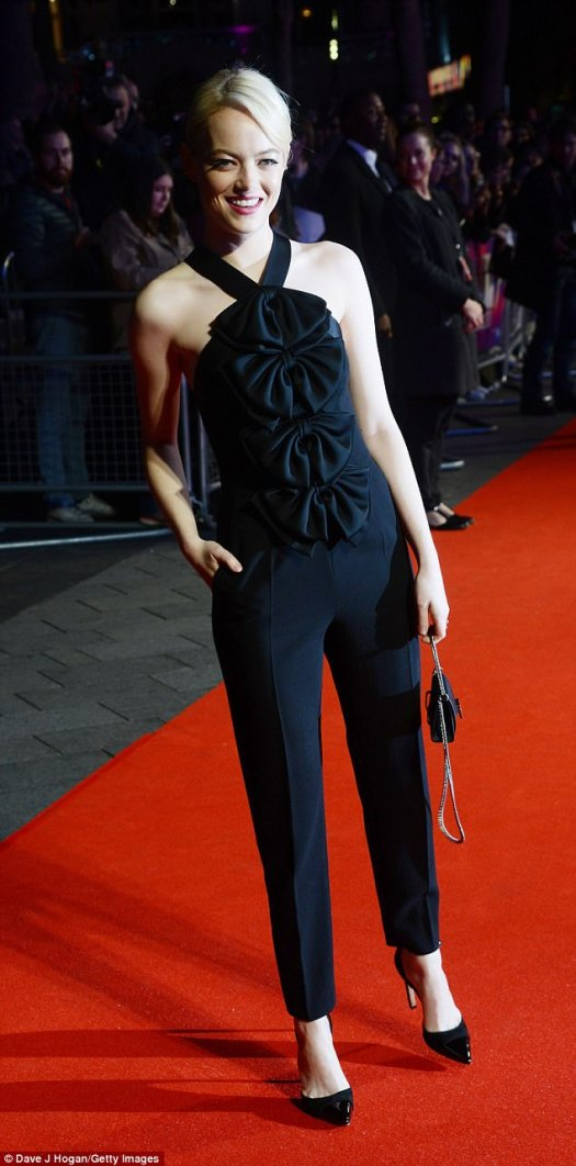 Support:Bizarrely, Emma is not in the film herself - but ruled the red carpet alongside the film's stars Nicole Kidman and Colin Farrell