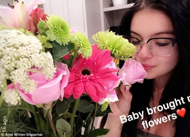 Romantic:Earlier in the week the star shared a photo of flowers that Levi had brought home for her. The bouquet was a pretty arrangement of spring blossoms with roses and stargazers