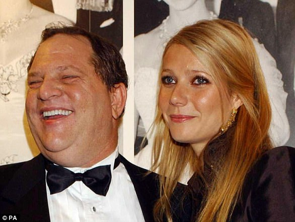 Paltrow (pictured with Weinstein in 2002) told the New York Times that when she was 22 Weinstein touched her and suggested having joint massages in the bedroom