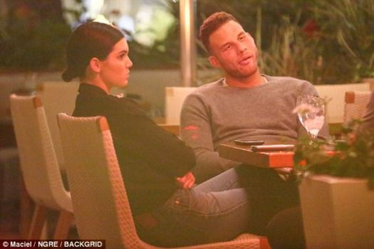 Body language speaks volumes: Kendall sat at the dinner table with her arms folded and a bored look on her face. Los Angeles Clippers player Griffin didn't seem very amused either