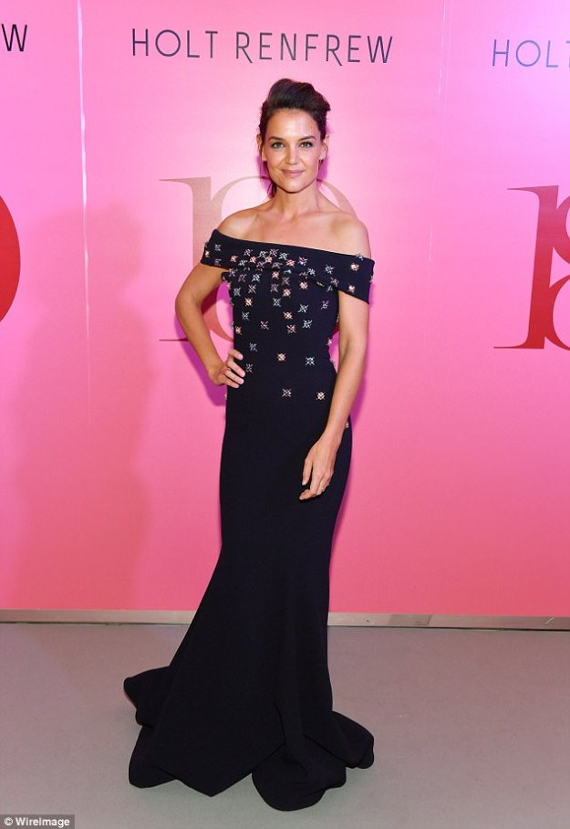 Turning heads! Katie Holmes looked in good spirits as she attended the Holt Renfrew 180th Anniversary in partnership with Vogue Magazine held at Holt Renfrew Flagship Store in Toronto on Thursday