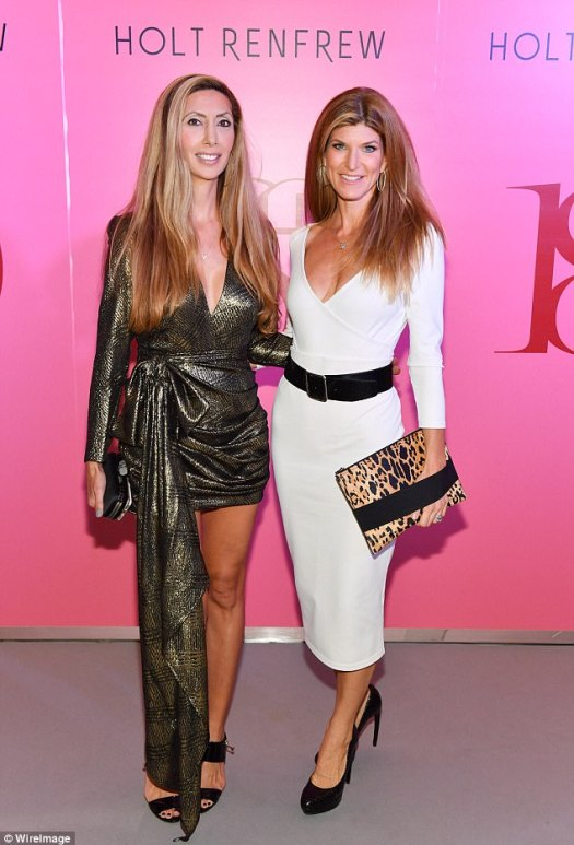 Leggy ladies!Rana Florida and Suzanne Cohon put on a chic display for cameras