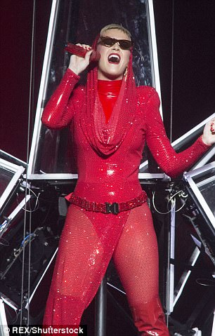 Belter: The latest tour sees her showcase the hits from her newest album Prism