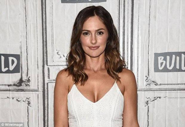 Shocking claims: Minka Kelly (above in July) has come forward with new claims about Harvey Weinstein, saying her promised her a lavish life if she would be his girlfriend