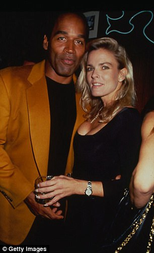 Simpson (left, pictured with his now-deceased ex wife Nicole Brown) was never convicted of the murdering Brown and Ronald Goldman in 1995.However, he subsequently lost a civil trial and was ordered to pay $33.5 million to the Goldman and Brown families