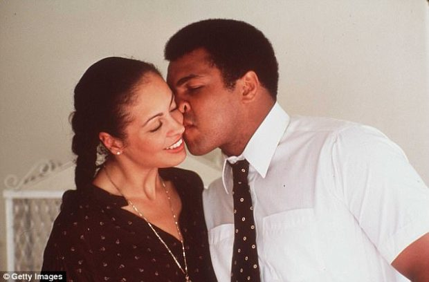 Ali is seen with Porche before his last fight against Larry Holmes in this 1980 file photo