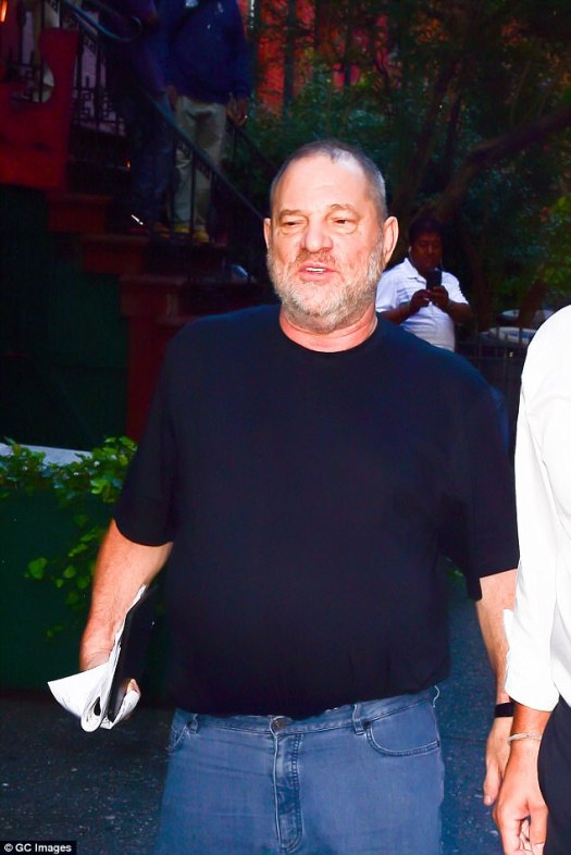 Weinstein is pictured in New York last week on the day the first revelations were published by The New York Times