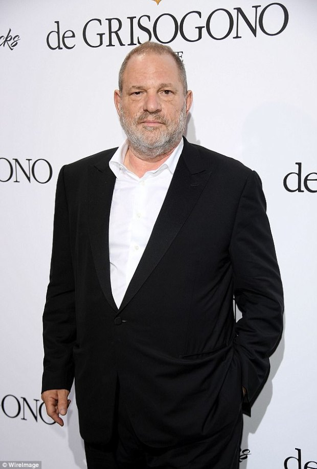 Harvey Weinstein (pictured in May at Cannes Film Festival) was checked into rehab in Arizona for sex addiction on Friday as dozens of women accuse him of rape or sexual harassment