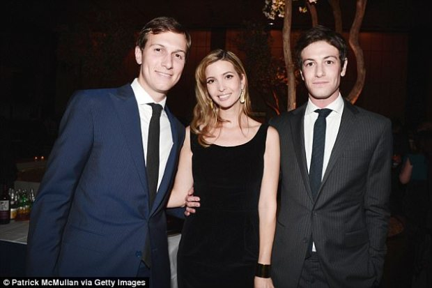 Jared Kushner, Ivanka Trump and Joshua Kushner attend The New York Observer 25th Anniversary at Four Seasons Restaurant on March 14, 2013 in New York City