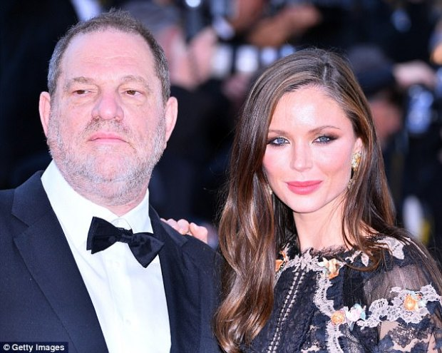None of the major retailers who sell Marchesa have spoken up, either condemning Weinstein or supporting Chapman (pictured, right, with Weinstein in May 2015)