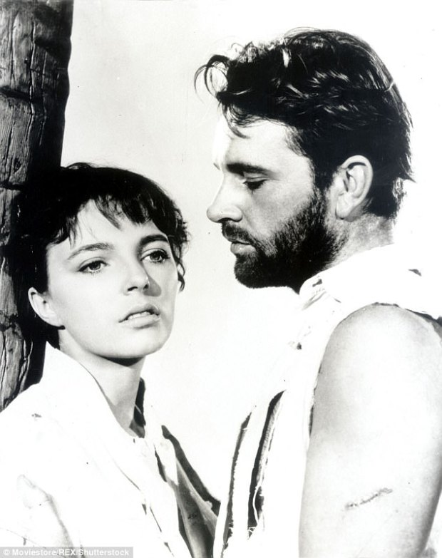 Collins (pictured with Richard Burton in Sea Wife) recalls dodging one producer¿s advances by hiding in a wardrobe in the costume department, helped by sympathetic dressers, and waiting until he left the studio before taking the bus and Tube home