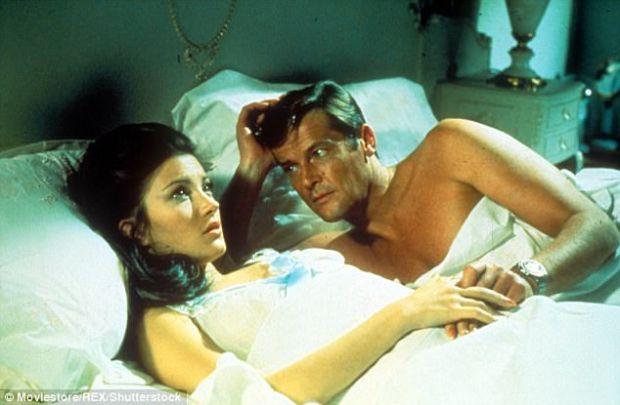 Ladies man: Roger Moore as James Bond in Live And Let Die with actress Jane Seymour