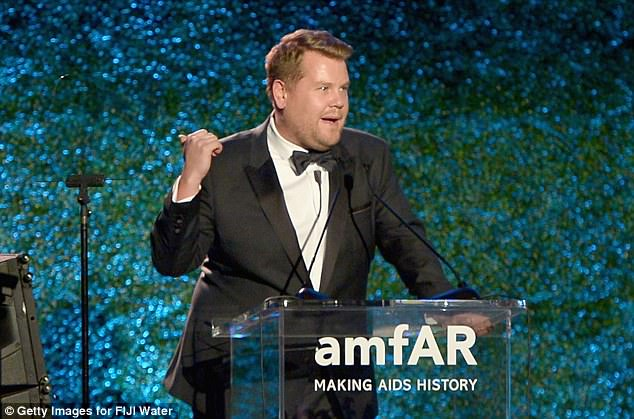 James Corden hosted the amFAR gala in Los Angeles on Friday night and made multiple jokes about the sexual harassment allegations swirling around former movie mogul Harvey Weinstein