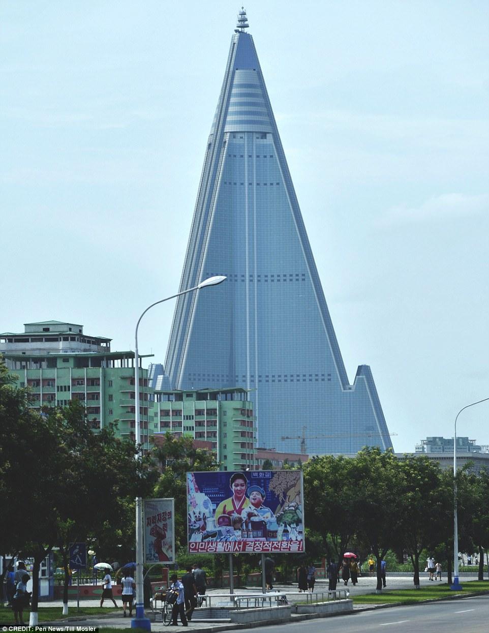 Work resumes on North Koreas notorious Ryugyong Hotel