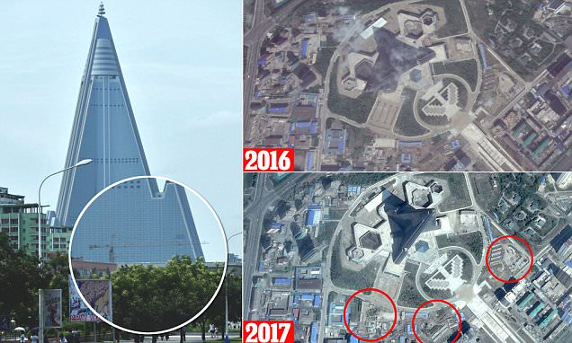 Work Resumes On North Korea's Notorious Ryugyong Hotel