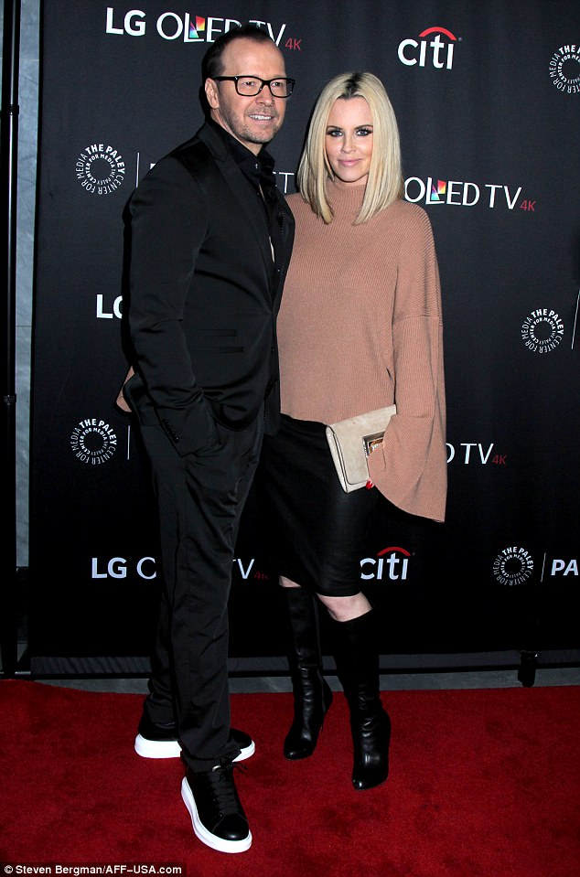 Endurance:Donnie Wahlberg and Jenny McCarthy look to be going as strong as ever on Monday night at PaleyFest in New York