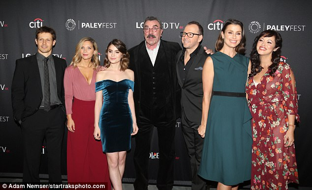 Cast of Blue Bloods: Will Estes, Vanessa Ray, Sami Gayle, Tom Selleck, Donnie, Bridget Moynahan, Marisa Ramirez