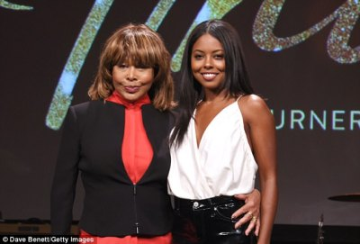 A star is born:First beaming widely for cameras, the singer later posed with actress Adrienne Warren, who is set to play the pop star onstage