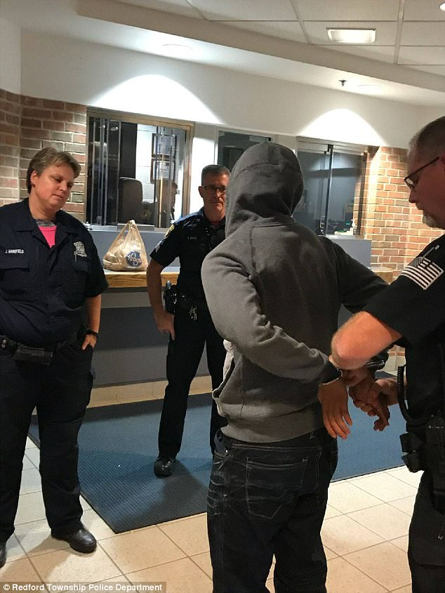 Zaydel, who said that he would clean litter around the district's public schools, also brought police officers a dozen donuts