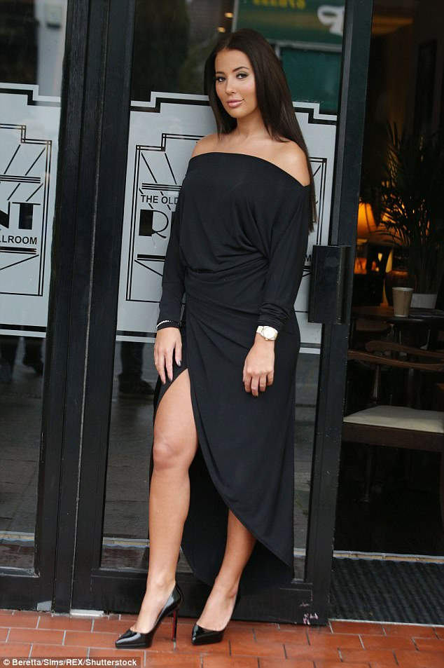 Towie's Yazmin Oukhellou Flashes Her Pins In Split Dress