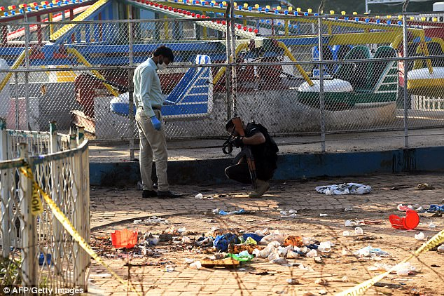 Christians celebrating Easter Sunday were injured, many of them children