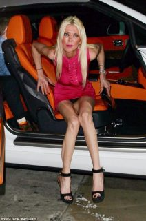 Whoops! Superslim Tara Reid turned heads for the wrong reason on Thursday as she accidentally flashed as she clambered out of a sports car