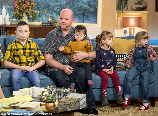 Ben Carpenter, 33, from Shepley, West Yorkshire, stole the heart of the nation as he appeared on This Morning with his children Jack, 10, Ruby, 6, Lily, 5 and Joseph, 2, who all have disabilities