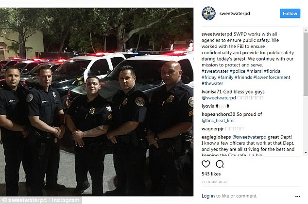 Authorities have not spoken publicly about Solano's arrest but Sweetwater Police posted a photo on Instagram confirming that they worked with the FBI to protect the public